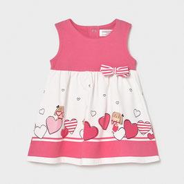 Kleid - Babykleid - weich - rosa - Borte mit Herzmotive- Mayoral