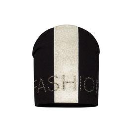 Kopfbedeckung - Mütze - Beanie - FASHION - schwarz - gold Fashion