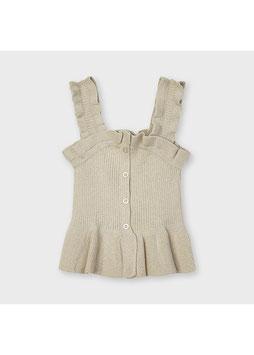 Shirt - Feinripp - Mädchentop - natur - weich - MINI GIRL - MJ