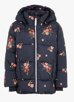 Jacke - Winterjacke mit Blumen - marine - NAME IT MINI MÄDCHEN