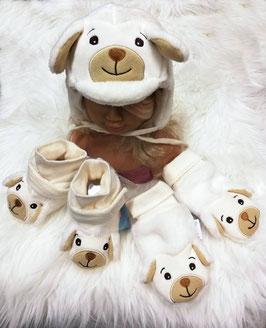 Kopfbedeckung - Gesicht - kuschelig - ivory - Sterntaler