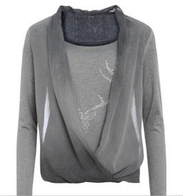 Shirt - Tracht - Trachtenshirt Claudi in Grau von Marjo Trachten