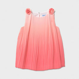 Kleid - Festkleid - Plissee - koralle - Mayoral