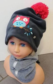 Kopfbedeckung - Mütze - Eule - grau - Sterntaler