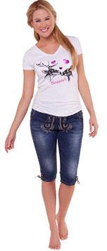 Hose - kurz - Jeans Kniebund Velvet - Tracht Damen