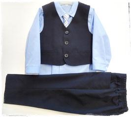 Anzug Kombination hellblau