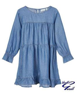 Kleid - abgestuft - jeansblau - langarm - Jeanskleid - NAME IT KINI MÄDCHEN