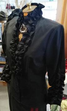 Bluse - Tracht Damenbluse Tracht mit Rüschen - schwarz