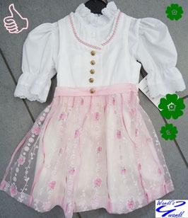 Babydirndl rosa - weiß - Tracht Mädchen