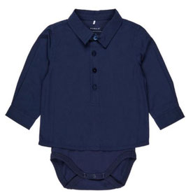 Baby Hemdenbody blau - NAME IT BABY JUNGEN