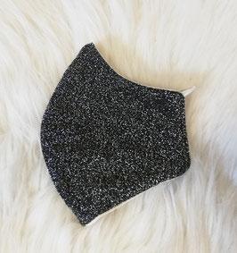 Mund-Nasen-Maske - schwarz - silver - für Kinder ab 8 Jahre geeignet