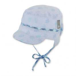 Kopfbedeckung - Schirmmütze  -  Baby - himmelblau - UV Schutz 50 +  Sterntaler