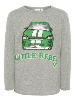 Shirt - Sweater mit Automotiv grau - NAME IT MINI JUNGEN