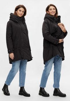 Jacke - Umstandsjacke - 3 in einem - Tragefunktion - schwarz - Mama Licious