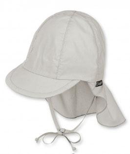 Kopfbedeckung - Schirmmütze grau mit Nackenschutz - UV Schutz 50 + - Sterntaler