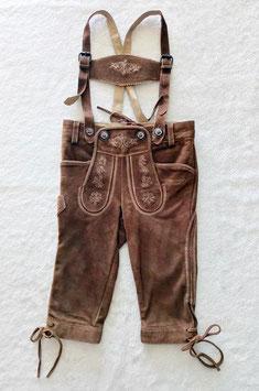 Tracht - Hose - Kinderlederhose - Knickerbocker - Ziegenleder - Trachtenhose - superweich - AKTION - Walnuss - antik -UNI  Kindertracht