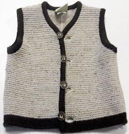 Tracht - Jacke - Trachtenkinderstrickjacke kurzarm natur - Kindertracht