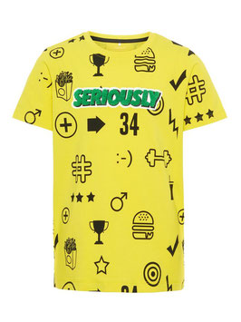 Shirt gelb - NAME IT KIDS JUNGEN