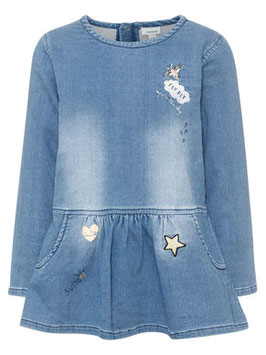Jeans Kleid mit Patches - NAME IT MINI MÄDCHEN