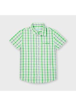 Hemd - kurzarm - grün - blau - karo - MINI BOY - MJ