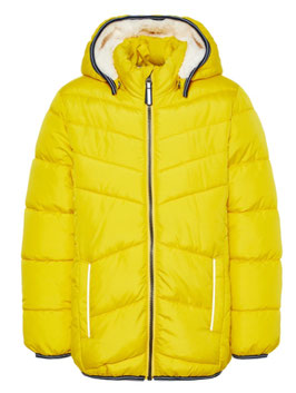 Winterjacke Teddyfutter  gelb  Aktion - NAME IT KIDS JUNGEN