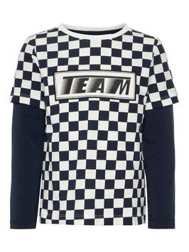 Shirt - Karoshirt schwarz-weiß - NAME IT MINI JUNGEN