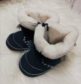 Schuhe - Baby - Winterschuhe blau mit weißem Pelz - blau - Sterntaler