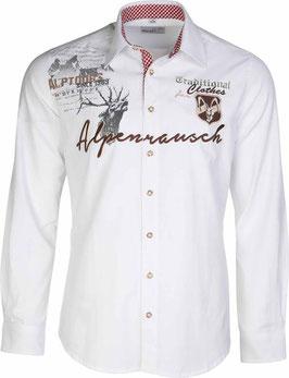 Hemd - Tracht - Alpenrausch - weiß - Herrentrachtenhemd