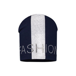 Beanie - FASHION - blau - silber