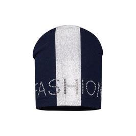 Kopfbedeckung - Mütze - Beanie - FASHION - blau - silber - Barbaras