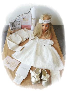 Kleid - Taufkleid Tüll Fantasie - creme -  Mayoral - Taufe - Festmode