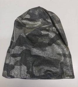 Kopfbedeckung -Beanie - lässiges camouflage mit Glanzoptik grau - gold - grün - Sterntaler