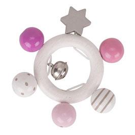 Greifling rosa, grau, weiß