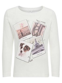 Shirt -  Hundemotiv - weiß - NAME IT MINI MÄDCHEN