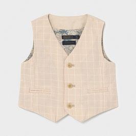 Anzug - Gilet - elegante - Weste - Leinen - ohne Arm - Taufgilet - creme - Mayoral