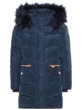 Jacke - Winterjacke mit Daunenfüllung und Kapuze blau - NAME IT MINI MÄDCHEN