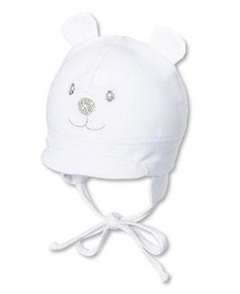 Kopfbedeckung - Schirmmütze  weiß mit Gesicht - Sterntaler
