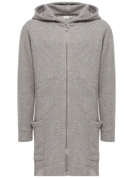 Sweatjacke grau - lang von name it
