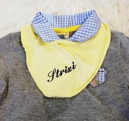 Latzerl - Strizilätzchen - gelb -  Baby - Kindertracht
