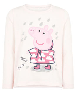 Shirt - Peppa Pig Longshirt rosa - NAME IT MINI MÄDCHEN