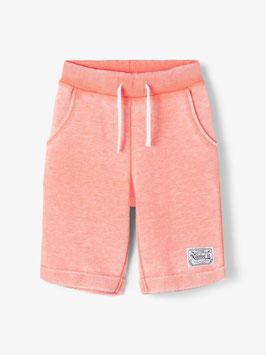 Hose - kurz - Shorthose - SWEAT SHORTS - super weich - orange/Melon - NAME IT KIDS JUNGEN