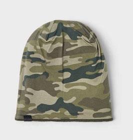 Kopfbedeckung - Wendemütze - Tarnmuster - grün - NAME IT KIDS