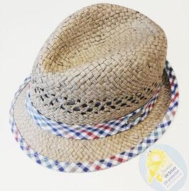 Kopfbedeckung - Sommer - Sonnenhut grau - Baumwolle gefüttert - UV - Schutz - Sterntaler