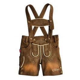 Tracht - Hose - Babytrachtenhose - naturbraun -  Baumwolle - superweich - mitwachsend - Babytracht - Kindertracht