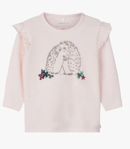 Shirt - Igelshirt rosa - NAME IT BABY MÄDCHEN