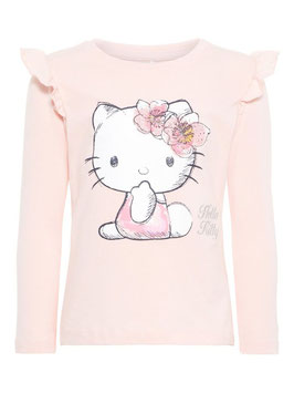 Shirt - Hello Kitty Shirt rosa - NAME IT MINI MÄDCHEN