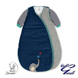 Schlafsack - Kuschelzoo - blau - grau - 110 cm - Elefant - Sterntaler
