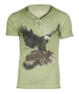 Marjo - Herren Trachten T-Shirt, M02 Alpeagle grün