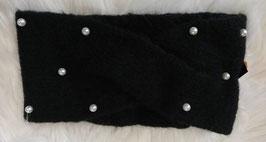 Kopfbedeckung - Stirnband schwarz mit Perlen - Windprofi