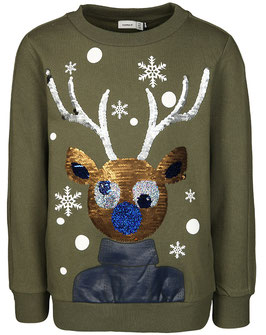 Sweater Rudolf Wendepailletten - NAME IT KIDS JUNGEN